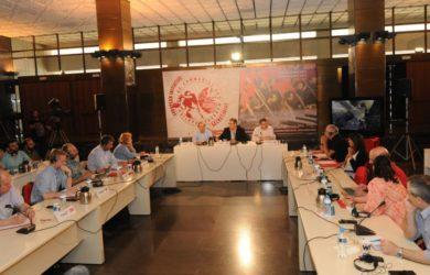 Bild från det Europeiska Kommunistiska Initiativets möte i Aten.