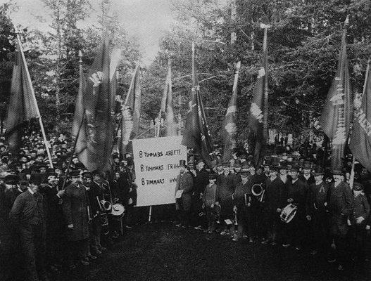 Första maj i Sundsvall år 1890.