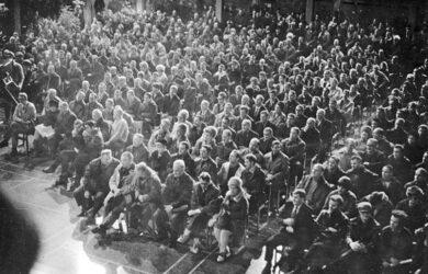 Bild från dokumentärfilmen Gruvstrejken 69/70. Foto: Satura AB